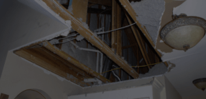 water damage ceiling repair