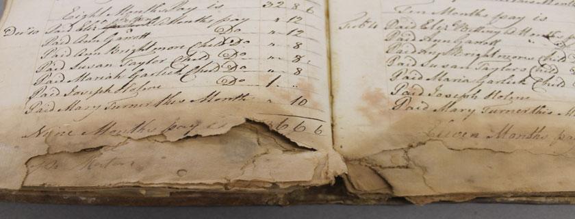 mold damaged books